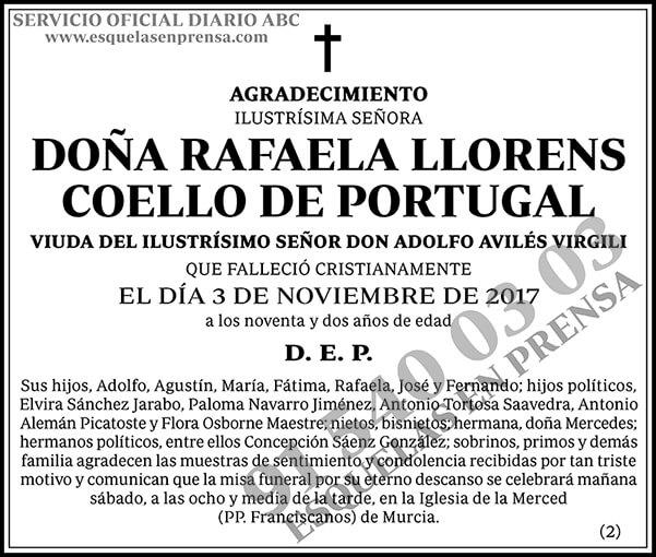 Rafaela Llorens Coello de Portugal